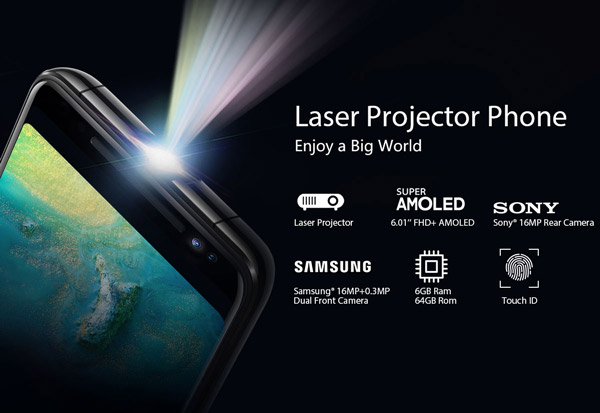 Blackview MAX 1 - Laser projector phone