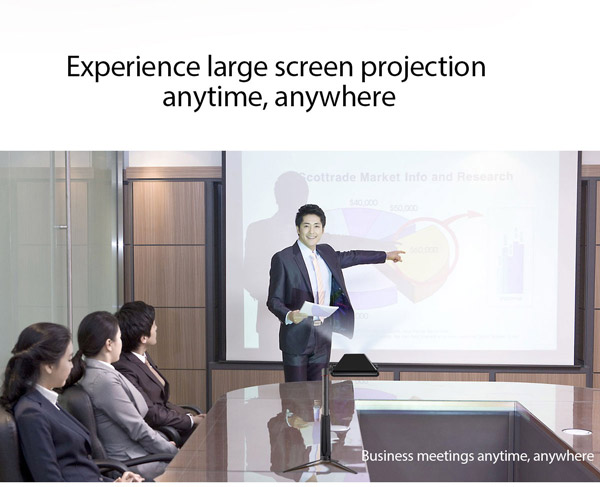 Experience large screen projection anytime, anywhere