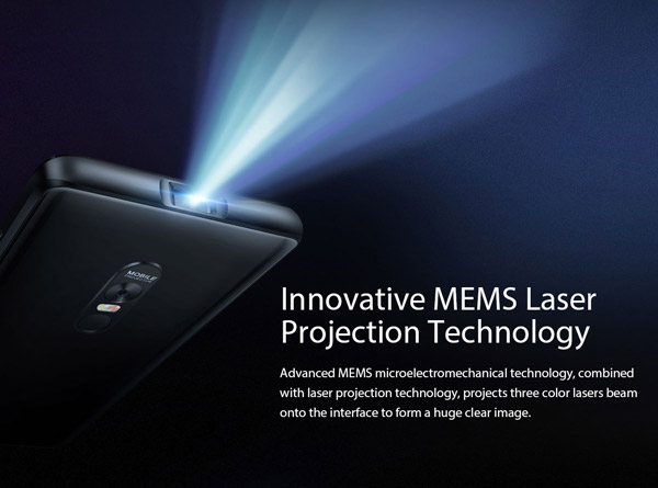 Innovative MEMS laser projection technology