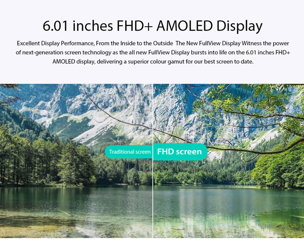 6 inches amoled display