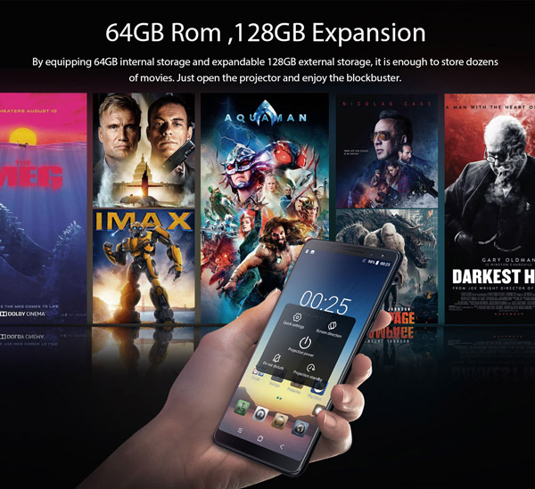 64GB ROM, 128GB expansion