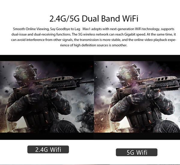 WiFi Dual band 2,4 and 5 GHz