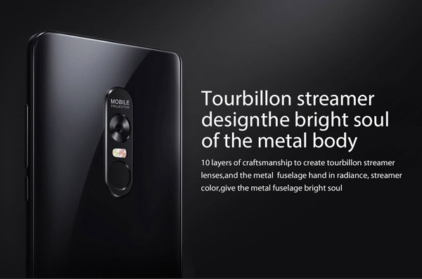 Tourbillon streamer design the bright soul of the metal body