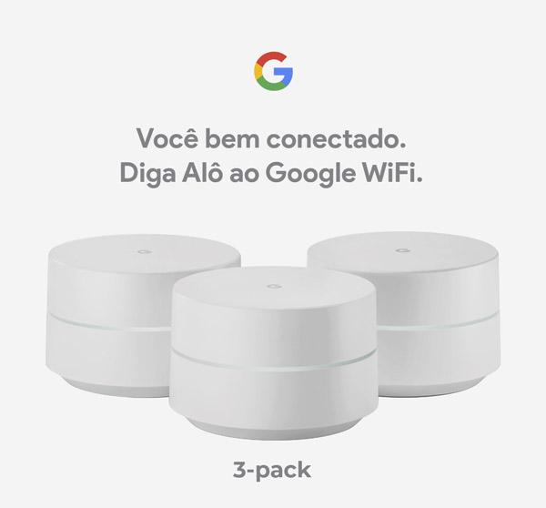 Roteador Google WiFi 3-pack - apresentação
