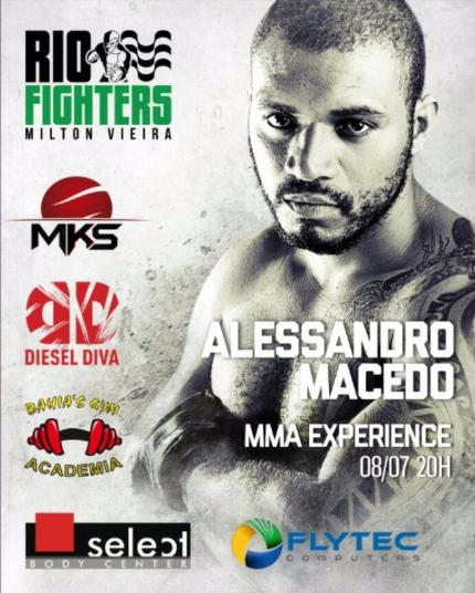 Flytec patrocionou atleta Alessandro Macedo no MMA Experience