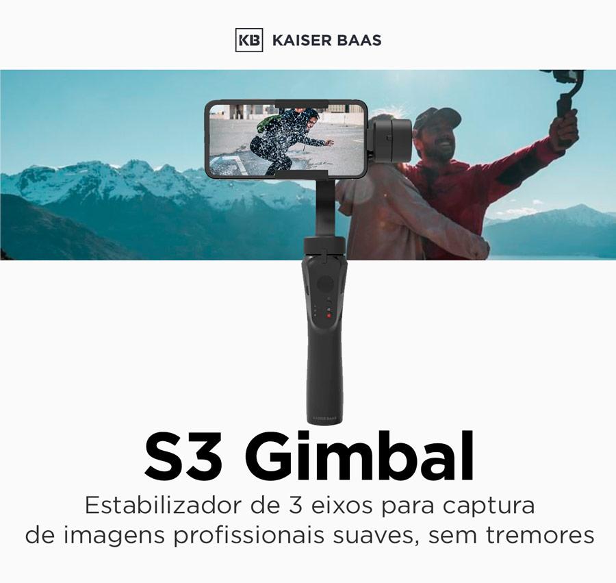 S3 Gimbal - Suporte com haste para smartphone