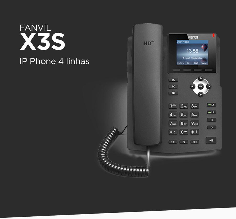 Fanvil X3S - Telefone IP 4 linhas