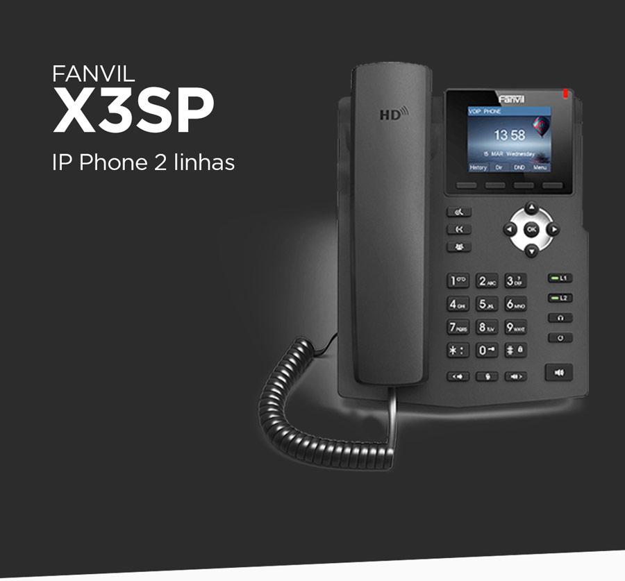 Fanvil X3S - Telefone IP 2 linhas