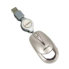 MOUSE SATELLITE MINI A-11S USB CABO RETRATIL PRATA