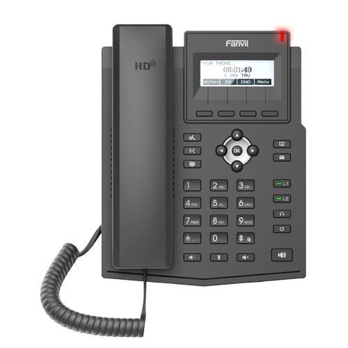 FANVIL TELEFONE X1S IP 2 LINHAS SIP LED EHS