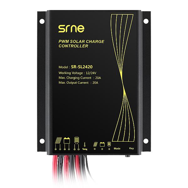 SOLAR PWM 20A CONTROLADOR 12V/24V SR-SL20A (SR-SL2420)