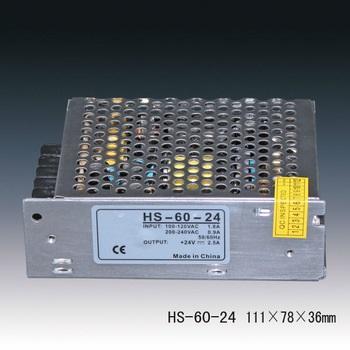 FONTE CENTRALIZADORA 24V 2.5A 60W HS-60-24