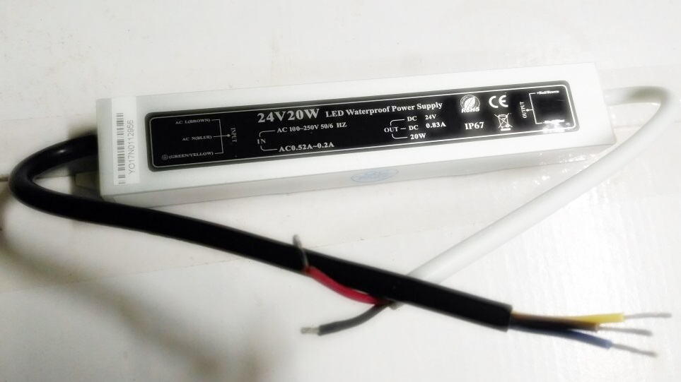 FONTE DE ENERGIA LED 24V 0.84A 20.2W LPV-20-24