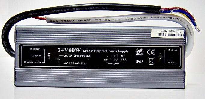 FONTE DE ENERGIA LED 42V 2.5A 60W LPV-60-24