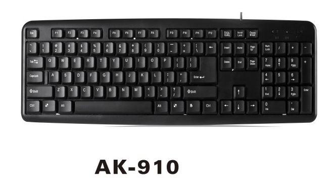 TECLADO SATELLITE AK-910 ESPANHOL USB PRETO