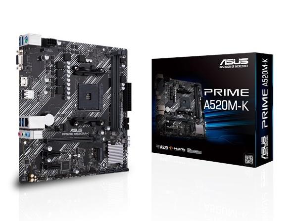 MB ASUS (AM4) A520M-K PRIME DDR4 MICRO ATX CPU SERIE RYZEN