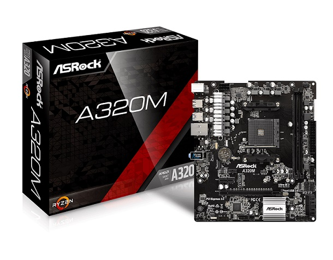 MB ASROCK (AM4) A320M-HDV DDR4 MICRO ATX CPU SERIE RYZEN