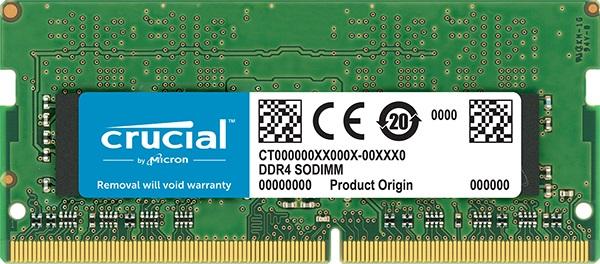 CRUCIAL MEMORIA 4GB DDR4 2400MHZ SODIMM CT4G4SFS824A (NTB)