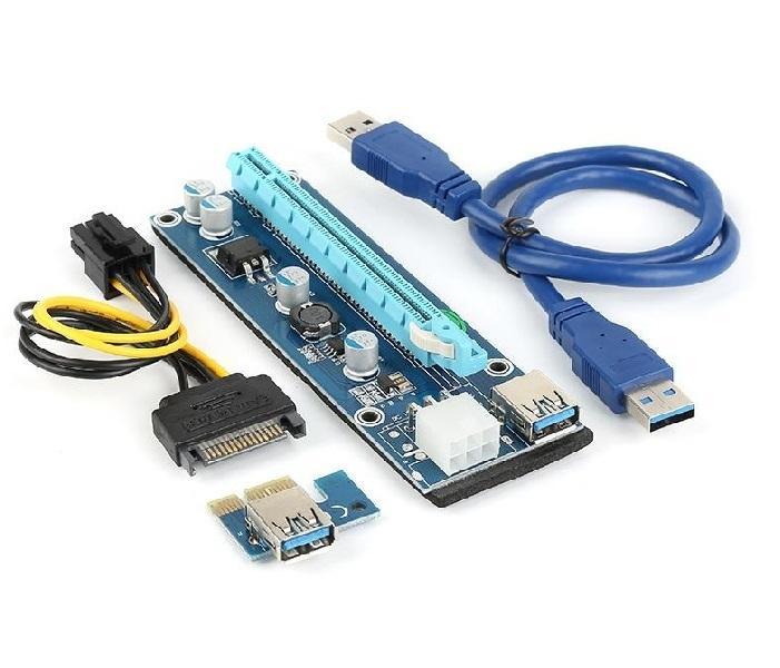 PCI-E EXPRESS PLACA RISER COM CABO EXTENSOR 3.0 1XTO 16X