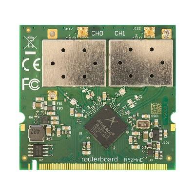 MIKROTIK MINI PCI CARD R52HND 802.11A/B/G/N 400MW MMCX
