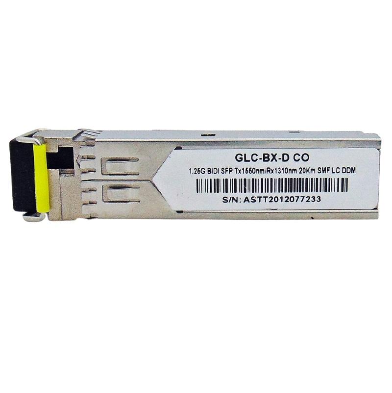 F. M SFP 1.25G 20KM BIDI LC DDM TX1550-RX1310NM GLC-BX-D CO