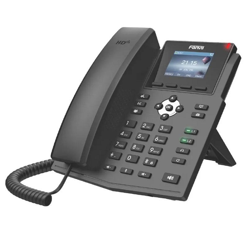 FANVIL TELEFONE X3SP IP 2 LINHAS SIP POE LCD COLOR
