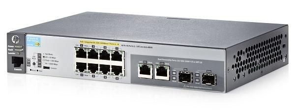 SWITCH HP ARUBA 08P 2530-8G-POE+ (J9774A) 10/100/1000 + 2SFP
