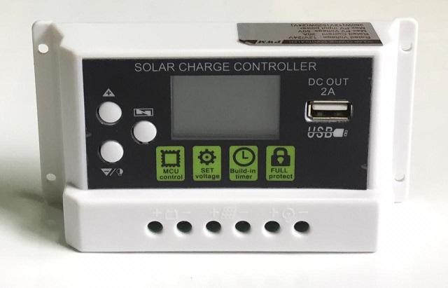 SOLAR PWM 20A CONTROLADOR 12V/24V DC OUT 2A USB