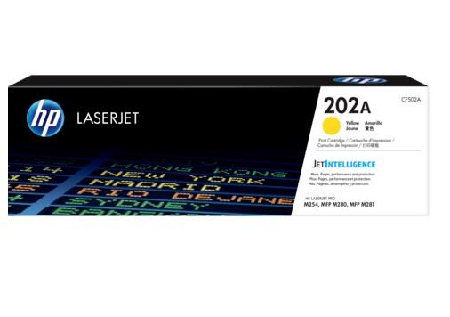 TONER HP CF502A (202A) AMARELO (LASER M281FDW- M254DW)