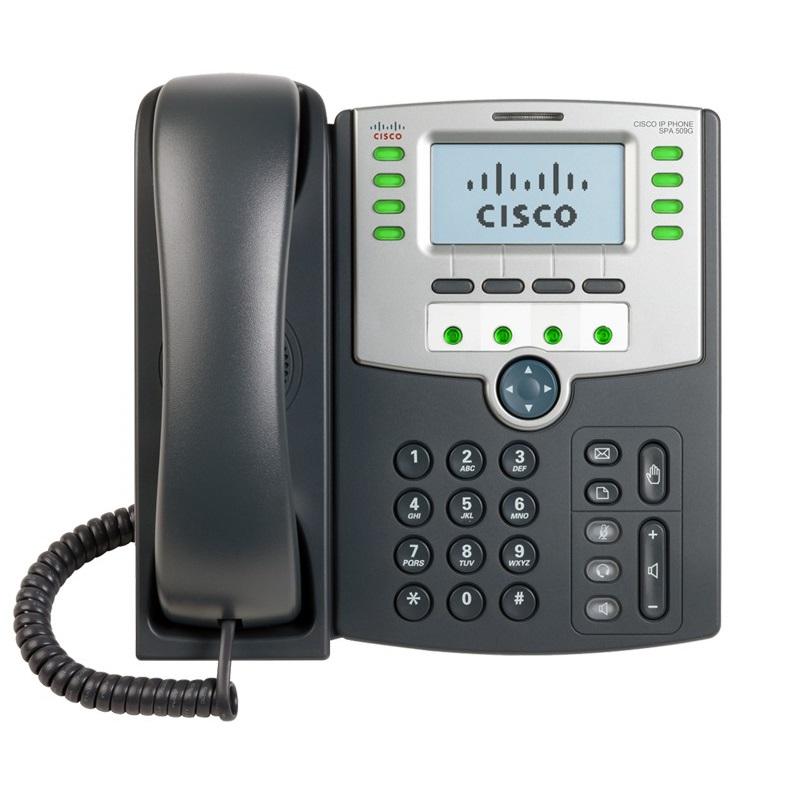 CISCO VOIP SPA509-G 12 LINHAS IP PHONE COM 02P SWITCH POE LC