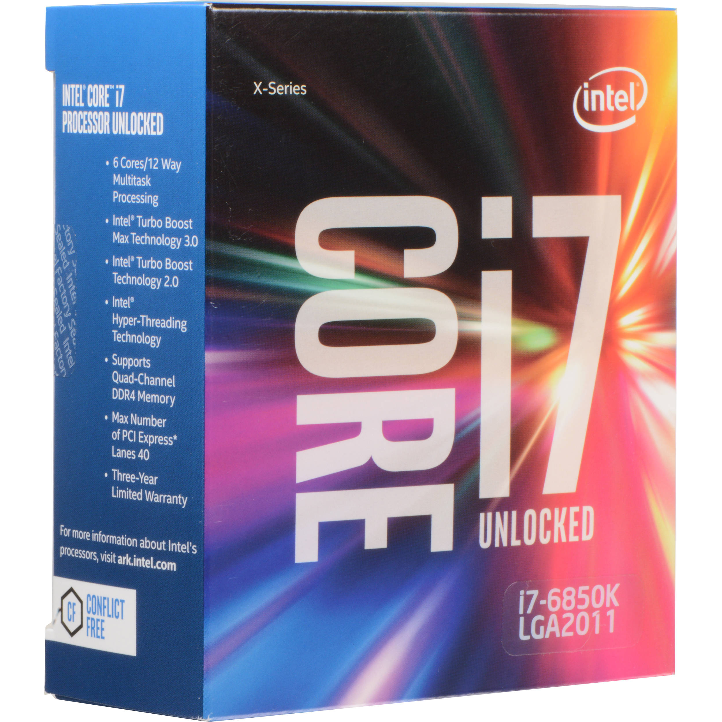 CPU INTEL CORE I7-6850K 3.60GHZ 15MB LGA 2011-V3 SEM COOLER