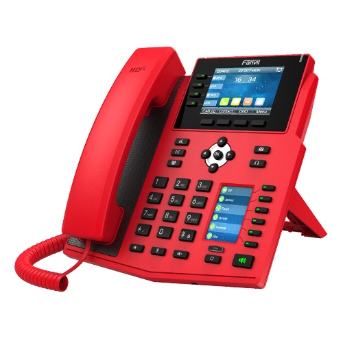 FANVIL TELEFONE X5U-RED IP 16 LINHAS EMPRESARIAL (POE)2P GB