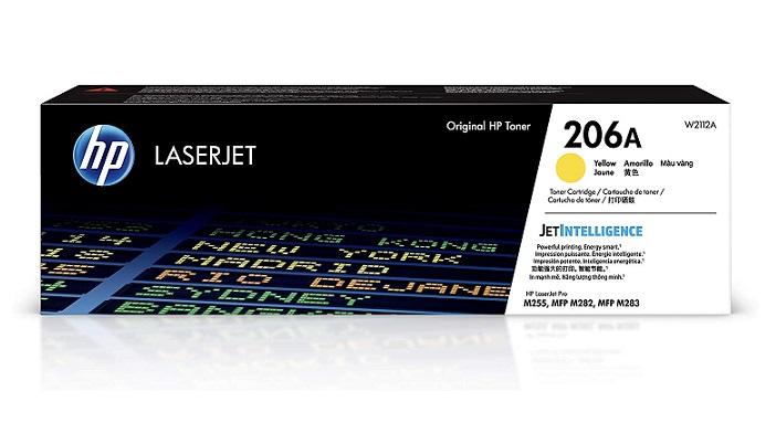TONER HP W2112A (206A) AMARELO(LASER M255DW- M283FDW-M283CD)