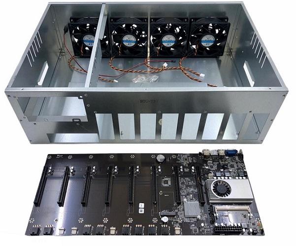 BITCOIN KIT PLACA BTC-T37 CPU DDR3 PLACA+CHASSI+4COOLER