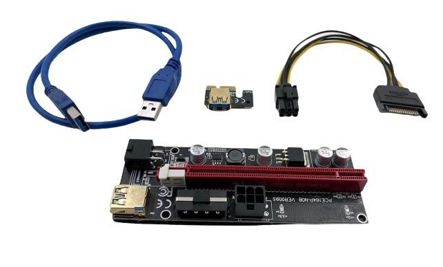 BITCOIN PCI-E PLACA RISER ADAPTADOR VER009 6PINOS USB 3.0