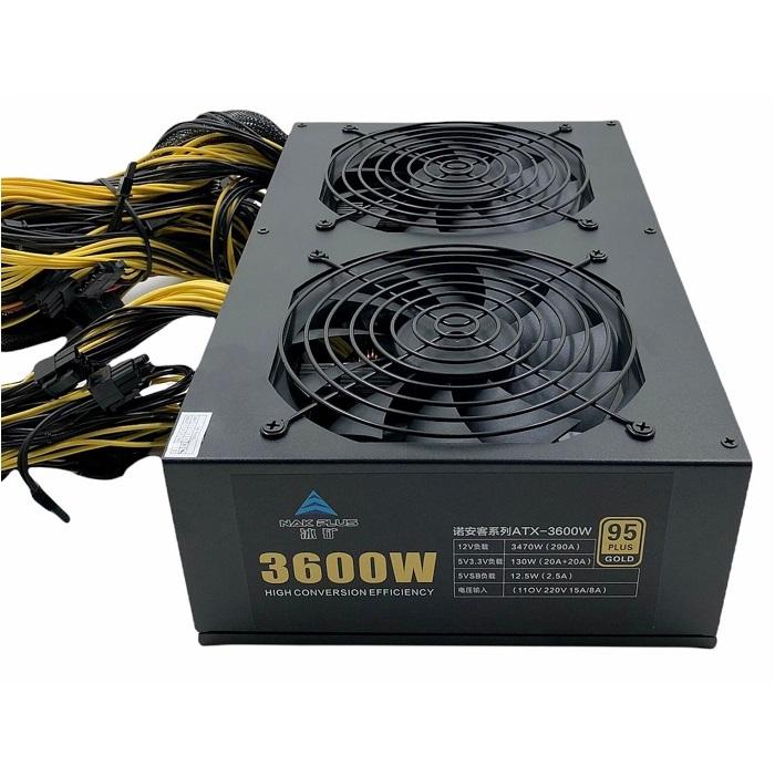 BITCOIN FONTE 3600W PSU 110-220V ATX 95 PLUS GOLD